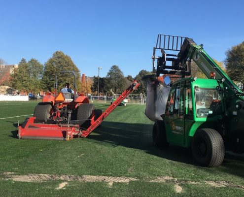 Work on Elliot Park Field