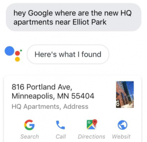 Voice Search for HQ Apartments