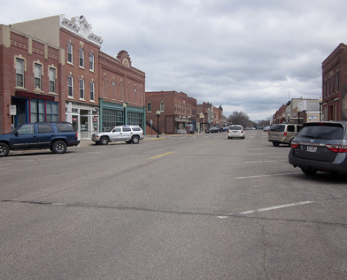 Main St Wabasha from The Olde Triangle Pub