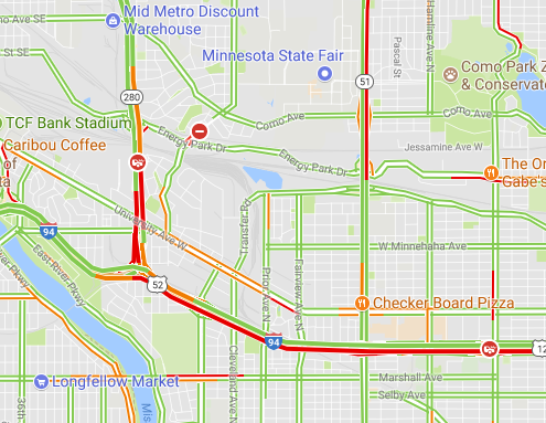 Traffic and Construction in Mpls/St Paul