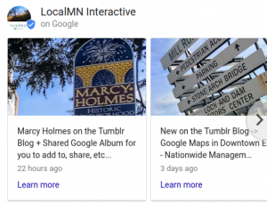 Google Posts LocalMN