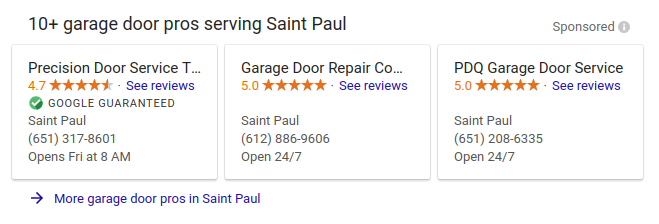 Garage Door Repair St. Paul