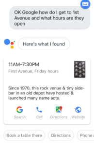 First Ave Voice Search