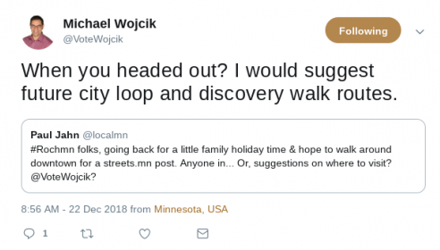 Reply from Wojcik